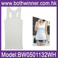 Ladies white cotton vests