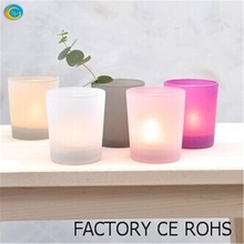 colored frosted glass candle holder mulit colors 100% on-time shipment protection