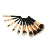 facial nylon mask brush set 10pcs powder makeup brush
