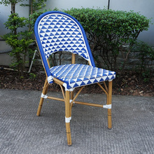 2015 newest design outdoor rattan bamboo chairs, commercial cafe chairs AS-6155-D