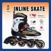 Sunshine Skate Roller With Rubber Wheels, Kid Shoe For Outdoor Games Bright Black JB1306 EN71-3 Approved