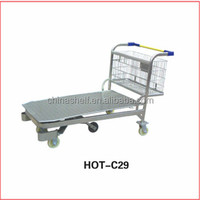 widely used heavy duty flat airport luggage trolley