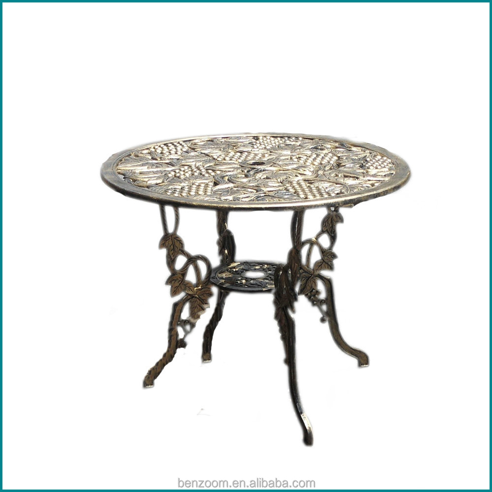 Durable Metal Furniture Cast Aluminium Used Patio Furniture Chairs And Tables 2015 New Design