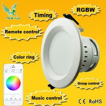 9W LED 2.4G Wireless RF Dimmable Wifi RGBW led downlight australian standard