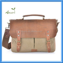 Genuine Leather Cross Body Laptop Messenger bag