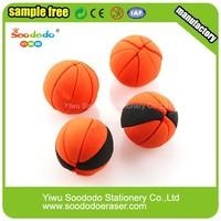 School Stationery Hotsale 3D Sport Basketball Eraser