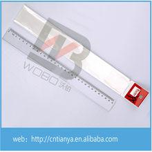 venta directa de fábrica transparente durable plástico de 30 cm regla estudiante