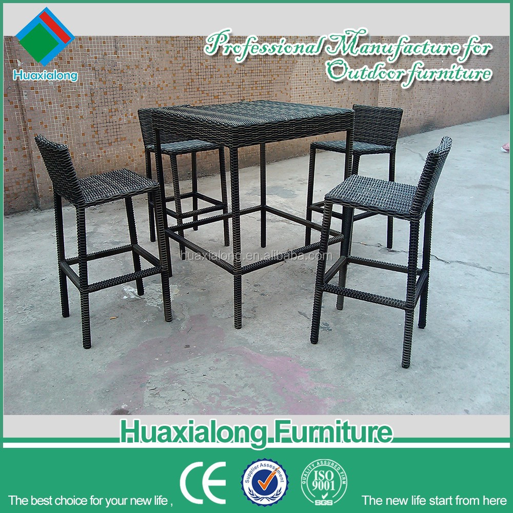 Hot Sale Outdoor Furniture Garden Patio Rattan Chairs And Tables For Bar Used