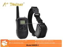 Waterproof Rechargeable LCD Shock Control Pet Dog Training Collar with 100 Level of Vibration + 100 Level of Static Shock
