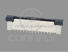Good quality 0.5mm pitch zif v/t smd type FPC connector with CE FCC certificated