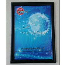 A0.A1.A2.A3.A4 25mm aluminum profile black snap frame digital picture frame