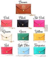 Wholesale Quilted Leather Envelope Clutch Handbag