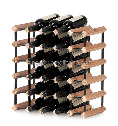 30 bouteille assembl bois de casier vin porte bouteille de vin etag res vins id de. Black Bedroom Furniture Sets. Home Design Ideas
