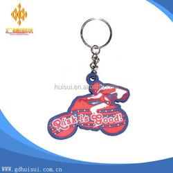 Promotion Wholesale Custom cartoon motor pvc letter Key chain, Metal souvenir Key Ring