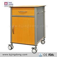 Hospital Wooden& Aluminium Bedside Cabinet, Used Hspital Bedside Tables