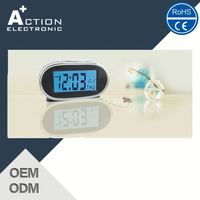 Retail Hot New Products Digital Transparent Lcd Alarm Clock