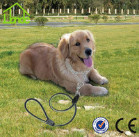 New design high quality Double Metal Line Dog Collar Pet Training collar Dog Chain pet product double chain collar