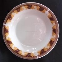 ceramic soup plate round edge with 302 design