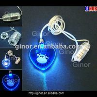 led heart necklace with logo printing
