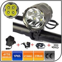 Waterproof 3 mode 4800 lumen 8.4V 8800mAh battery pack 4pc CREE XML T6 led light bike