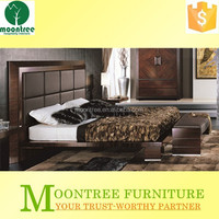Moontree MBD-1101 luxury furniture king size leather bed