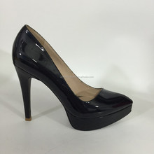 Women Patent Leather High Heel Pointed Corset Work Sexy Pumps Ladies Shoes