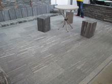 Natural grey stones for garden walkways