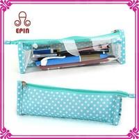 Kids school pencil case for girl, custom wholesale pencil bag, clear transparent PVC pen bag for teenagers