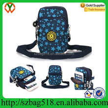 Mini waterproof single strap cell phone neck hanging bag with star pattern