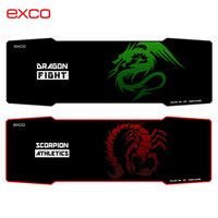 Exco Big custom printed gaming Rubber Mouse Pad with stitching edge , Large wholesale waterproof mouse pad