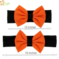 "2015 New fashion Halloween Festival headband cotton headband High-quality 5"" Bow top baby Elastic headband Hair Accessories"