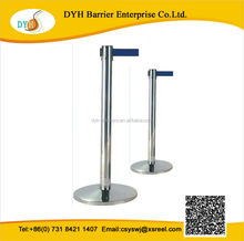 High quality retractable aluminum galvanized pipe stanchion