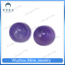 2015 new jewelry material ball shaped amethyst rough natural stone beads