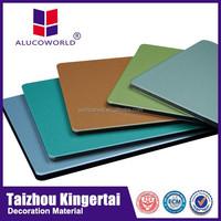 Alucoworld 2015 popular Most competitive price providing Mirror ACP pe coated board/aluminum composite panel