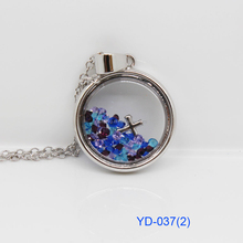 2015 Hot Selling Stainless Steel Cross/ Four Leaf Clover/ Love you More Shaker Crystal Pendant Necklace(YD-037)