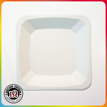 """6"""" High Quality Different Size Biodegradable Sugar Cane Eco Bagasse Pulp Square Plate"""
