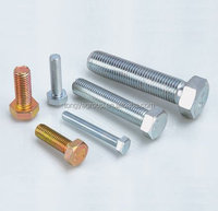 Galvanized guardrail steel hex bolt and nut