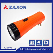 hiking manufacturer 100% ABS Lead-acid battery 1 led mini led flashlight torch