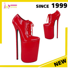 China wholesale alibaba Extreme high heel shoes for sexy ladies shoes,12inch heel 6inch platform stage performance footwear