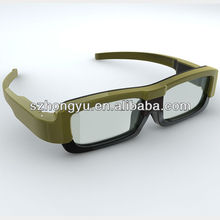Unique active shutter DLP 3D glasses for home theater(SG019)