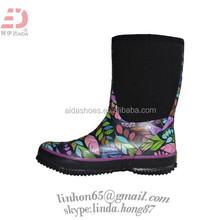Dive Neoprene Black water sports boots Womens