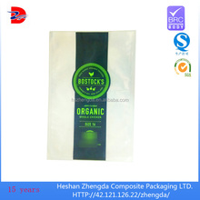 three side seal vacuum food grade plastic bag for frozen chicken food