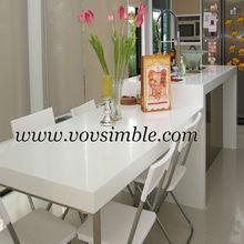 de alto brillo y acabado de la belleza romántica corian y piedra artificial de la tarde mesa de té