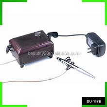 Black/pink/brown air compressor with spray gun kit airbrush compressor kit