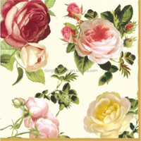 Factory main in different size and design for flower decoupage printed paper napkins