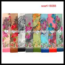 mantón de la moda mariposa impresa bufanda 2014