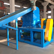 tire recycling rubber crusher and steel separator