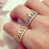 Wholesale 18k gold plated king and queen ring jewelry