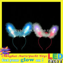 animal ears headband,flashing light toys,glow in the dark headband,light sexy bunny girl cosplay headband ZH0910608