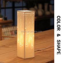 Tassels Pattern Ceramic Decor Table Lamp Porcelain Desk Light